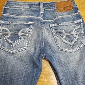Big Star size 25 XL ultra-low rise jeans